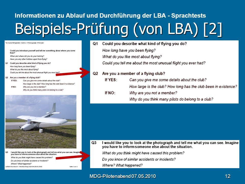 Informationen zu Ablauf und Durchführung der LBA - Sprachtests Beispiels-Prüfung (von LBA) [2]